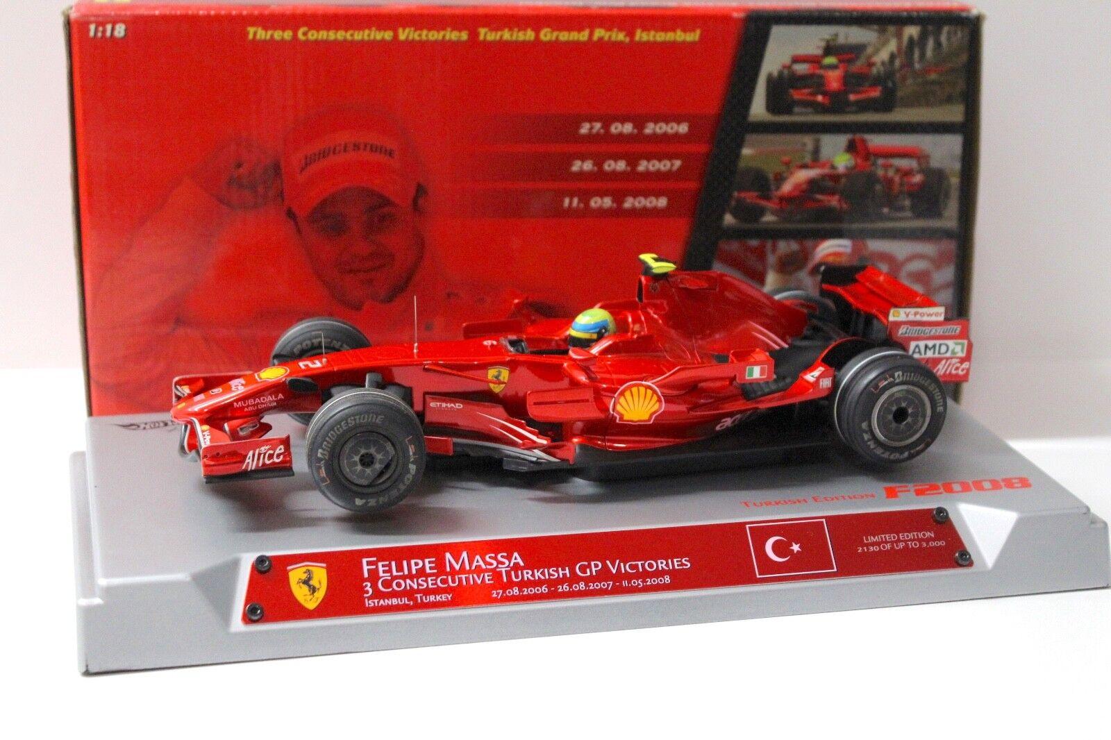 1 18 HOT WHEELS FERRARI f1 f2008 Turkish GP victories massa in Premium-MODELCAR