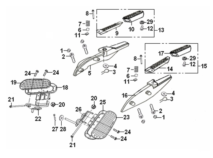 Buy Foot Rest Plate Bracket Bolt 8x115mm For Keeway Superlight 125