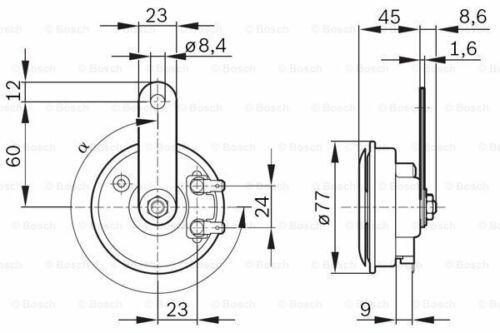 BOSCH 9 320 332 803 Horn für BMW MOTORCYCLES NISSAN RENAULT