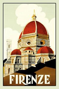 Firenze-Florenz-Letrero-de-Metal-Arqueado-Tin-Sign-20-X-30cm-CC0374