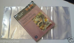 3-Pack-SCHOOL-TEXT-BOOK-ADJUSTABLE-COVERS-266mmm-size-clear-plastic-reusable
