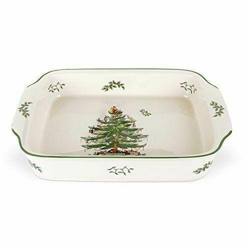Spode Christmas Tree Sale: Spode Christmas Tree Rectangular Handled Dish 2day