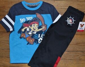 Jake-and-Never-Land-Pirates-Athletic-Fleece-Lined-Pants-amp-Matching-Tee-Size-2T