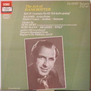 HANS-HOTTER-The-Art-of-Hans-Hotter-2-LP-Bach-Handel-Schubert-Schumann-Wolf