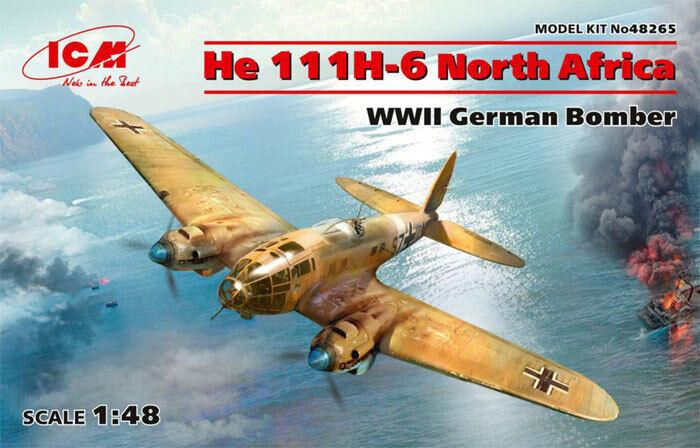 ICM Heinkel He 111H-6 North Africa 1 48 Plastic model