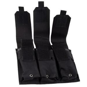 Tactical-Molle-Hunting-Tool-Pistol-Handgun-Mag-Holder-Bags-Triple-Magazine-Pouch