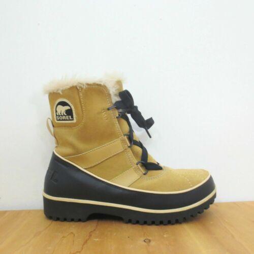 7.5 - SOREL Tan & Black Suede Leather Winter TIVOL