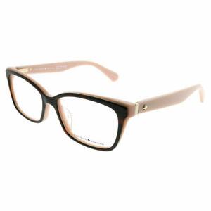 Kate-Spade-KS-Jeri-OO4-Havana-Red-Coral-Plastic-Rectangle-Eyeglasses-52mm