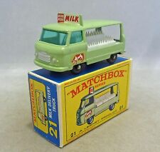 Lesney Matchbox Toys MB21c Milk Delivery Truck with Cow Decal,BPW,Deep Bumper