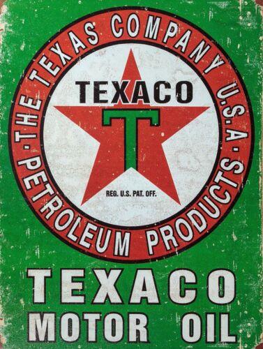 Texaco Sign Man Cave Garage Abri Vintage Cadeau Atelier moto