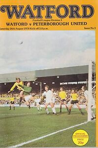 Football ProgrammegtWATFORD v PETERBOROUGH UNITED Aug 1978 - Swindon, United Kingdom - Returns accepted Most purchases from business sellers are protected by the Consumer Contract Regulations 2013 which give you the right to cancel the purchase within 14 days after the day you receive the item. Find out more about  - Swindon, United Kingdom