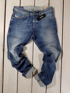 d458530793a Diesel New-Fanker 0604B Dark Wash Slim Bootcut Button Fly Jeans Size ...