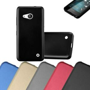 Custodia-Cover-Silicone-per-Nokia-Lumia-550-TPU-Case-Metallico-Opaco