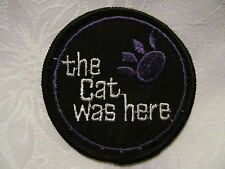 Vintage Artic Cat Snowmobile Sled Trucker Hat Jacket Patch THE CAT WAS HERE