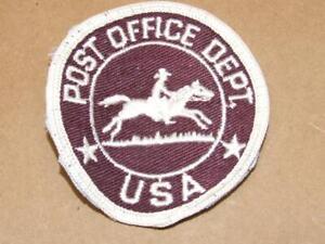 Details about Vintage POST OFFICE DEPT Patch Letter Carrier Obsolete US  Mail USPS Old Patch 3