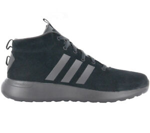 Adidas Men s Sneakers Cloudfoam Lite Racer Mid CF Shoes Black Leather  Sneaker 2df300e1f626