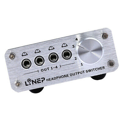 Audio Selector Box 4 Input 4 Output 3.5mm AUX Switch Box 1//8 Stereo Splitter Signal Switch Cable for Home Audio AUX Switcher