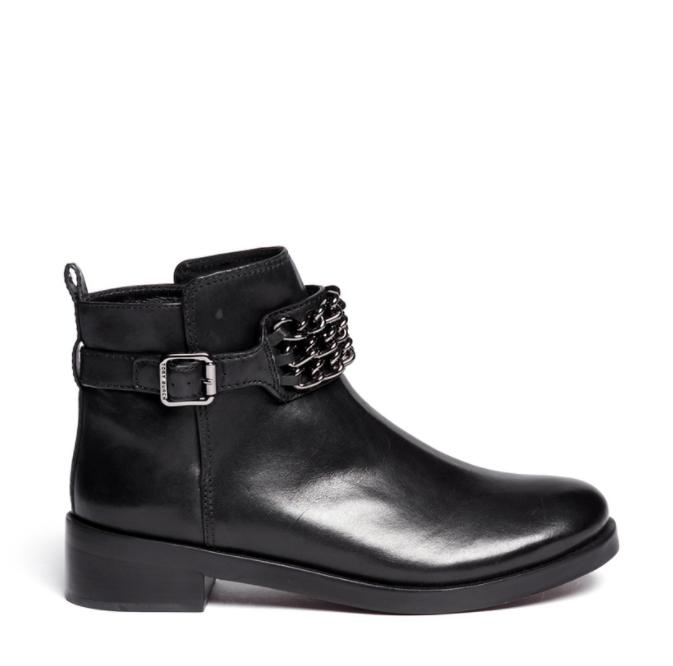 scegli il tuo preferito Tory Tory Tory Burch Donna  Bloomfield Chain Strap Leather nero Ankle stivali 7872 Dimensione 7  alta qualità genuina