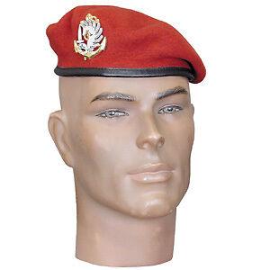 Beret-Amarante-rouge-insigne-des-parachutistes-RPIMa-TAILLE-59-para-TDM