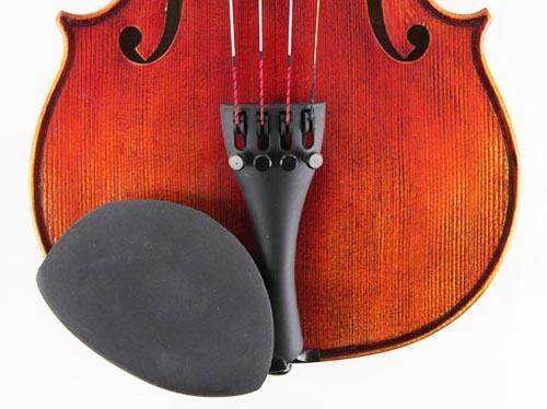Strad Pad ELASTIC Violin//Viola Chinrest Pad Blk Medium