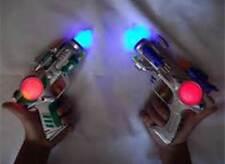 2 pcs Blinking LED Light Up Flashing Space Pistol Toy Gun with Sound Effect :o)