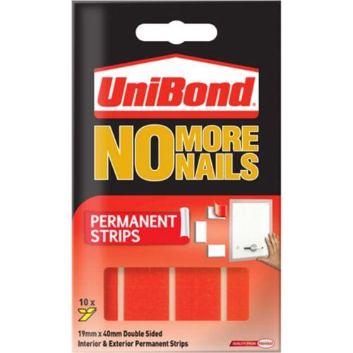 Unibond No más clavos tiras permanente de cinta roja para uso en interiores /& Al Aire Libre