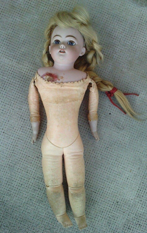 ancien poupee tete buste porcelaine SH  DEP 8 antique doll corps parisienne