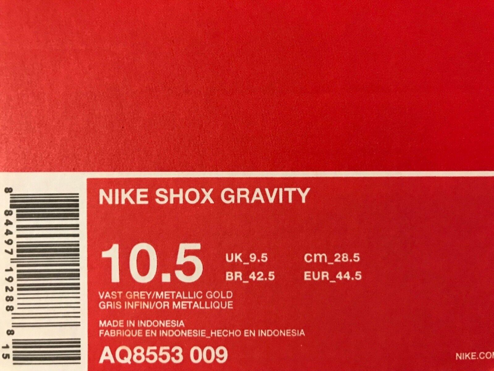 Nike shox schwerkraft riesige graue / metallisches metallisches metallisches gold größe männer 10,5 [aq8553-009] 57c483