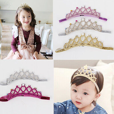 Girl Baby Girl Toddlers Cute Shimmer Crown Tiara Soft Headband party