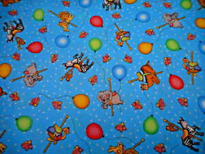 Baby Fabric 1 3/4 Yard Bazoople Carousal Animals Balloon ...