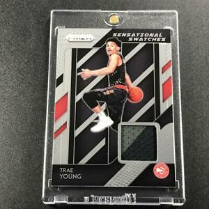 TRAE-YOUNG-2018-PANINI-PRIZM-97-SENSATIONAL-SWATCHES-2-COLOR-PATCH-HAWKS-NBA