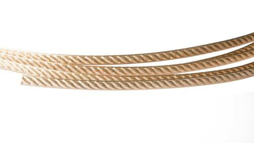 Soft 5.33mm Amarillo Oro lleno de alambre plano de patrón 14//20