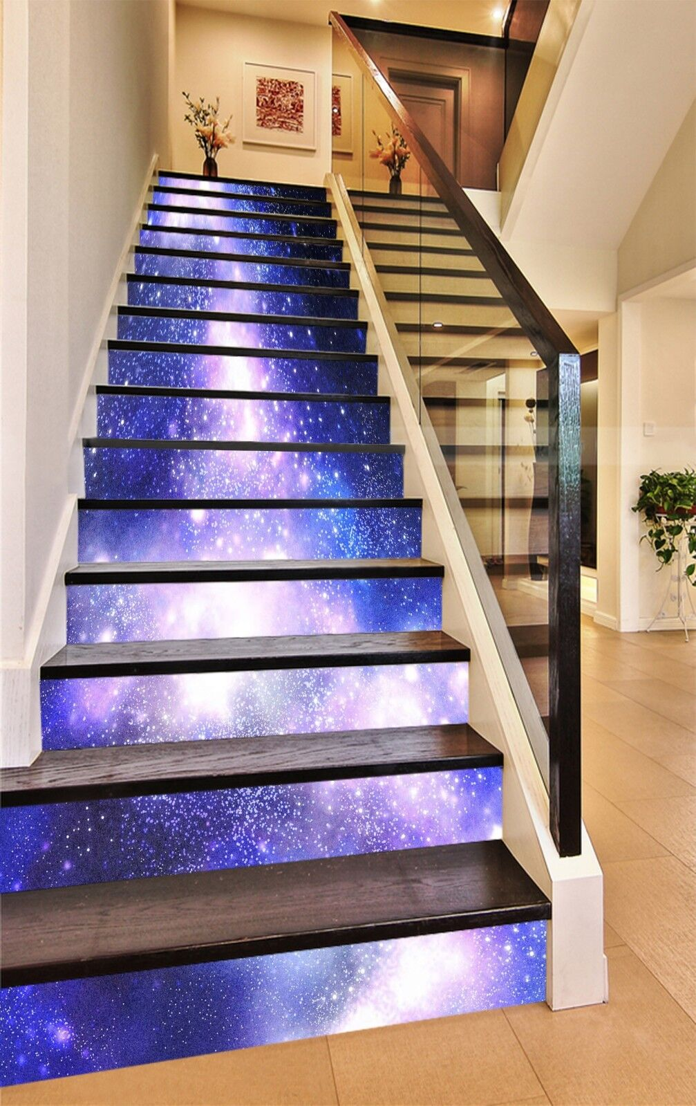 3D Starry sky 355 Stair Risers Decoration Photo Mural Vinyl Decal Wallpaper UK