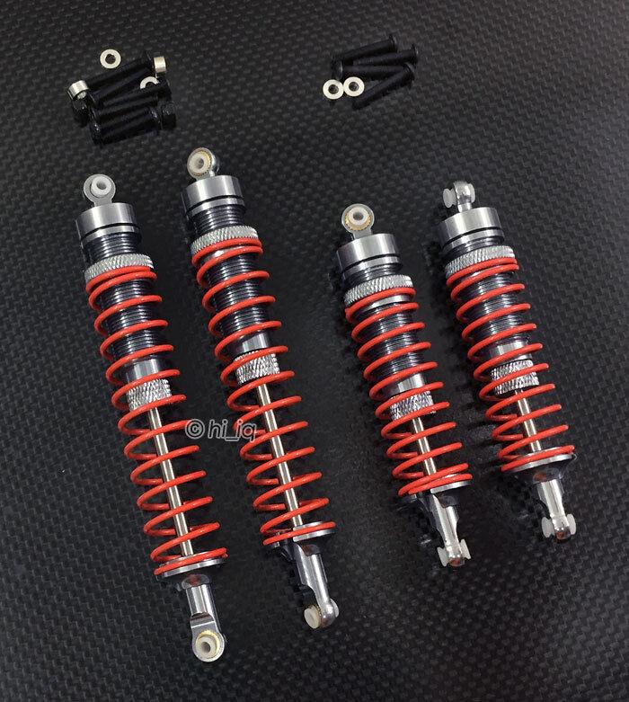 Aluminio Delantero + Trasero Resorte Ajustable Regulador 125mm Para Axial Yeti