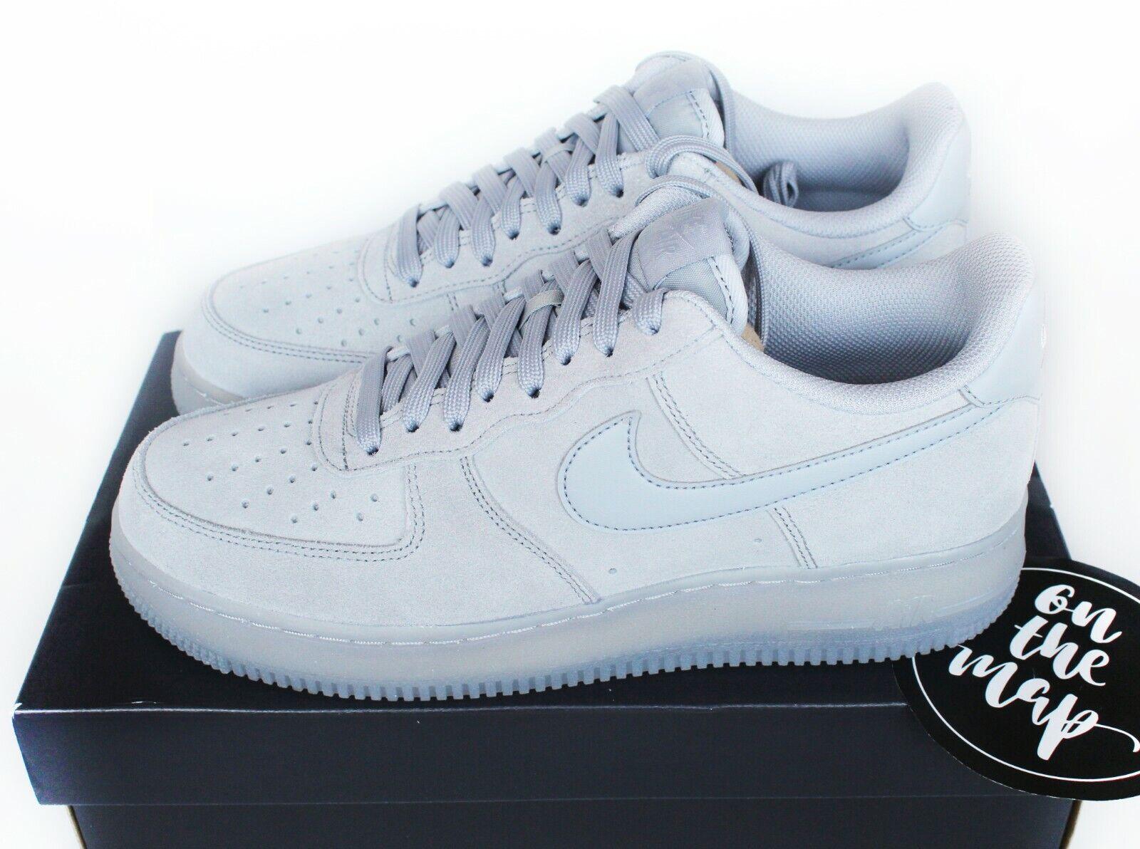 Nike Air Force 1 af1 '07 lv8 3 Wolf grau Wildleder UK 5 6 7 8 9 10 11 12 US NEU
