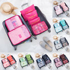 6PCS Travel Clothes Storage Bags Suitcase Luggage Organizer Pouch Bags Cube