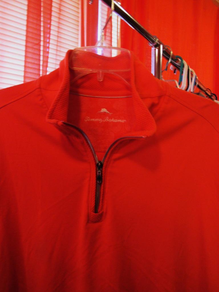 TOMMY BAHAMA SWEATER HALF ZIP LONG SLEEVE Orange JERSEY CASUAL S XL COTTON
