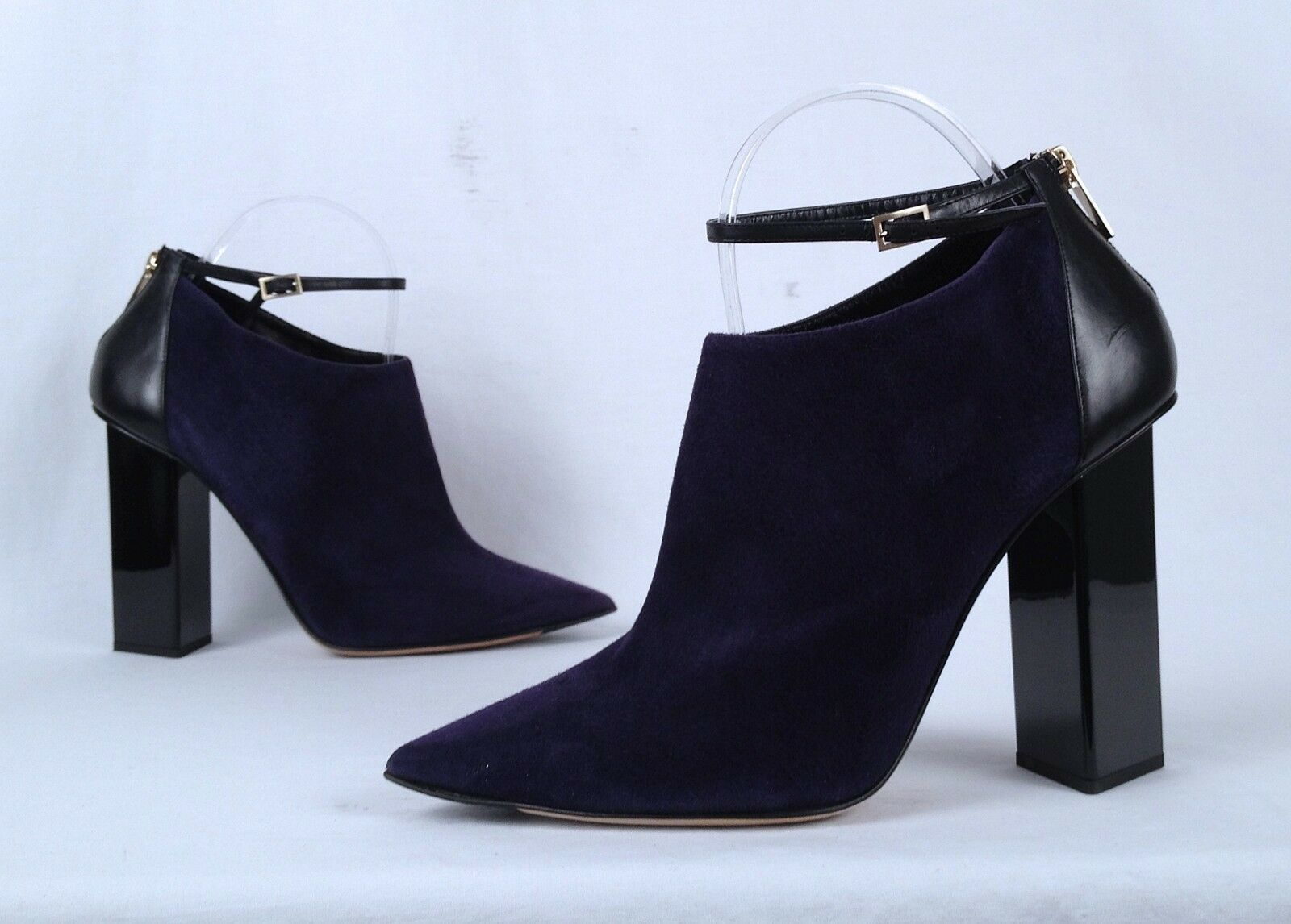Jimmy Choo Ankle Strap Stiefelie- Stiefelie- Strap lila Suede -Größe 9.5 US  39.5 EU  998 (P19) 471359