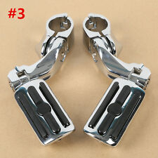 """Chrome 1-1/4"""" Short Angled Adjustable Highway Foot Pegs Peg Mount Fit For Harley"""