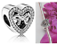 NEW Heart Silver Spacer Charm DIY Jewelry Making Ladies Bracelet Necklace Gift