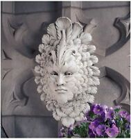 Venetian Carnivale Classic Italian Masked Greenman Feathered Face Wall Sculpture