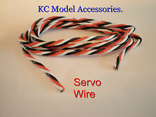 Servo Wire Silicone Cable 22awg Futaba, JR ,Spekrum 3 Wire Twisted.