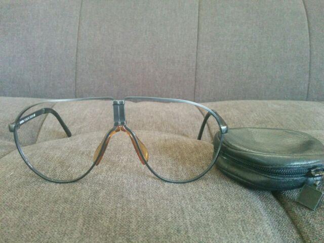 2bb8a42bd9c Vintage Carrera Porsche Design Folding Sunglasses Eyeglasses Frame Aviators  5622