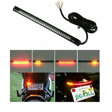 48 LED Bike Light Strip Tail Brake Turn Signal Red & Amber For Suzuki Gixxer