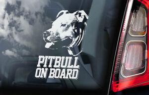 Pitbull-On-Board-Auto-Finestrino-Adesivo-Fossa-Bull-Terrier-Cane-Firmare