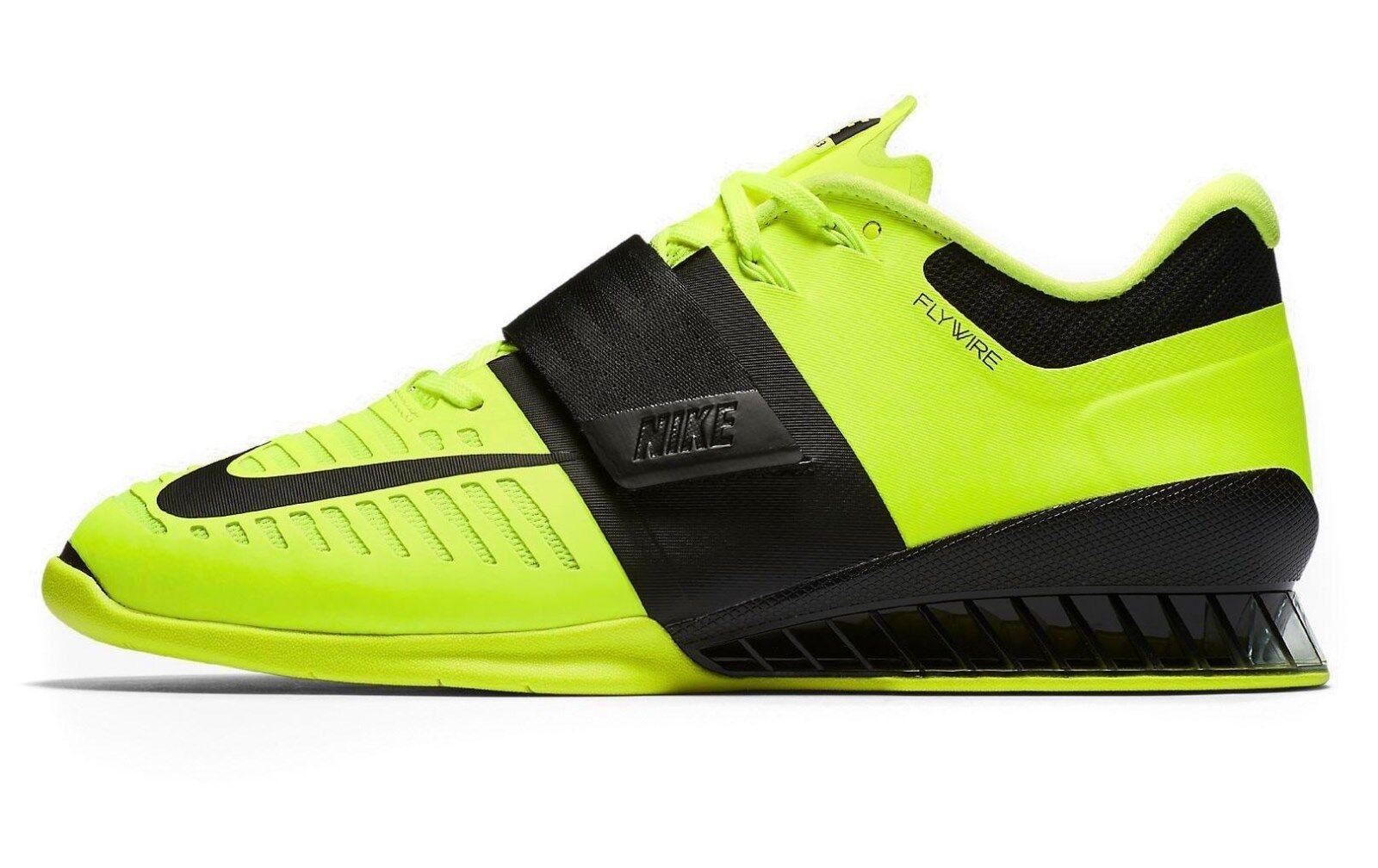 Nike romaleos 3 volt / nero sollevamento pesi dimensioni zecca 15 nuove di zecca dimensioni (852933-700) 2dc15d