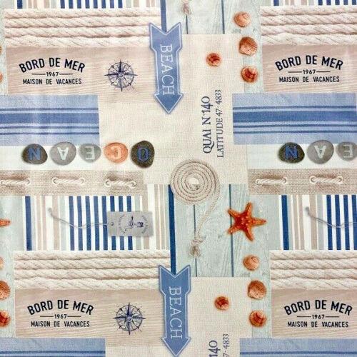 Wachstuch Tischdecke Meterware OCEAN Maritim 06137-01 eckig rund oval
