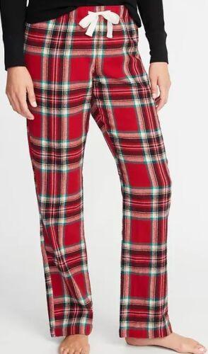 NWT Women/'s OLD NAVY RED PLAID Flannel Pajama Sleep Pants L XL XXL LH3089-1