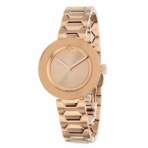 Movado 3600387 女大膽玫瑰石英手表