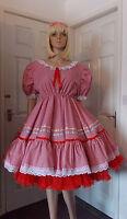 Unisex Short Adult Baby Dress ,fancy Dress/sissy/gingham Longer Style